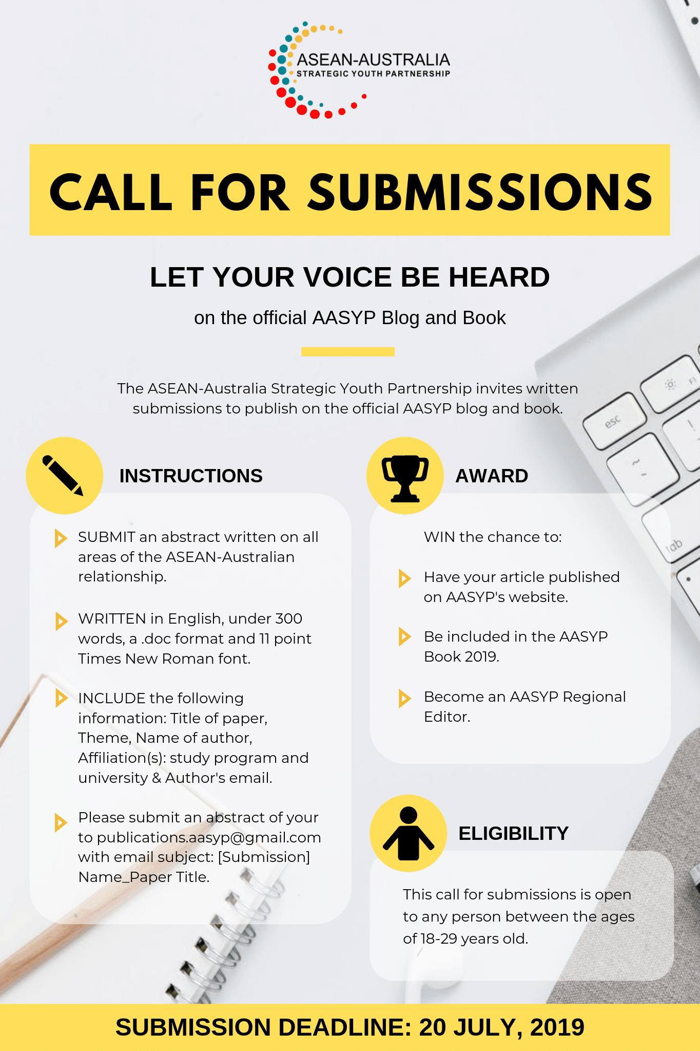 Call For Submissions: Let Your Voice Be Heard – ASEAN