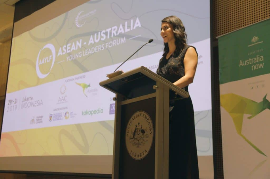Leonie Nahhas at the Opening Ceremony of the inaugural ASEAN-Australia Young Leaders Forum