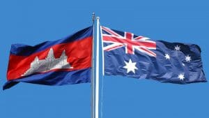 Cambodian and Australian Flag